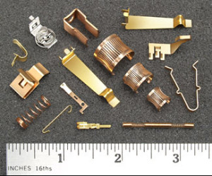 assorted beryllium copper metal stamping products