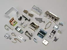 metal spring clips with various finishes