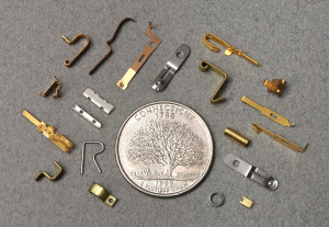 Minature metal stampings