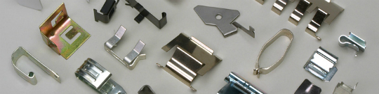 metal spring clips, metal stampings, electrical spring contacts