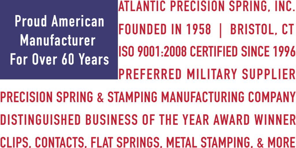 Metal Stamping in the USA with Atlantic Precision Spring